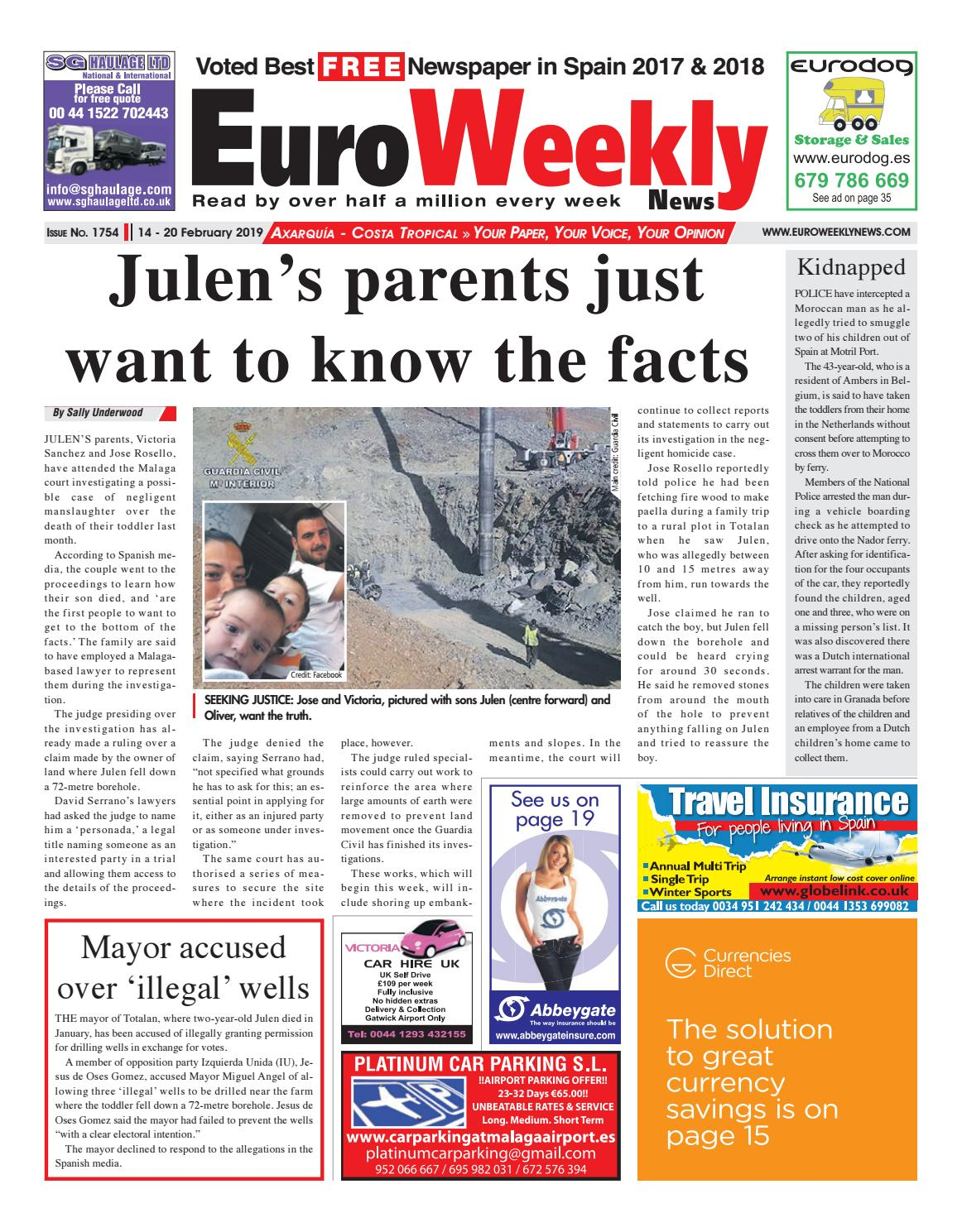 Euro Weekly News - Axarquia - 14 - 20 Feb 2019 Issue 1754 by