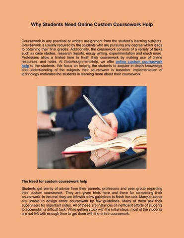 Coursework Writing Services For A Modest Price