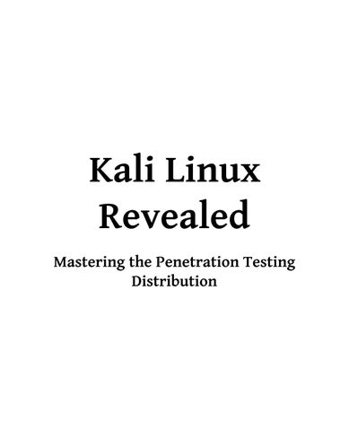 Kali Linux Revealed by I love reading - issuu