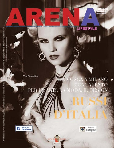 ARENA Arena Lifestyle - supplemento del settimanale on line Commodity World  Weekly - Anno I II n.. 35 4  2018 registr. al Tribunale di Pavia n. 9a575254584