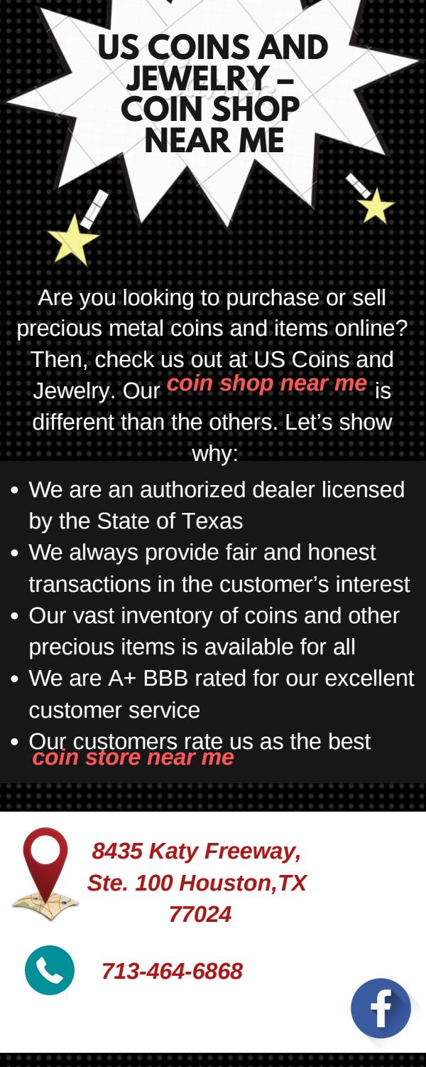 Us Coins And Jewelry – Coin Shop Near Me by Houston Coins