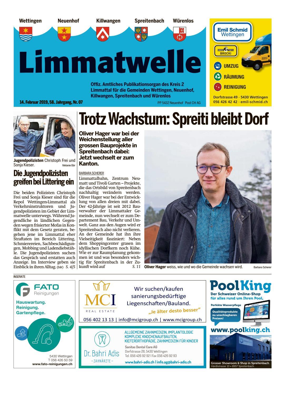 Das Infomagazin fr Wettingen Ausgabe 9 Winter Stern. EWW