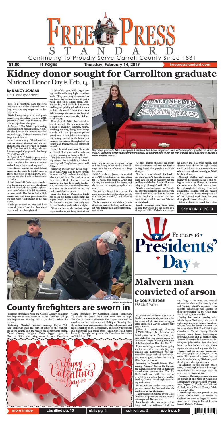 The Free Standard February 14, 2019 by Schloss Media - issuu