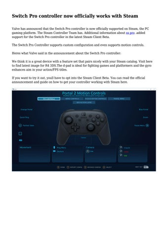 Switch Pro controller now officially works with Steam by