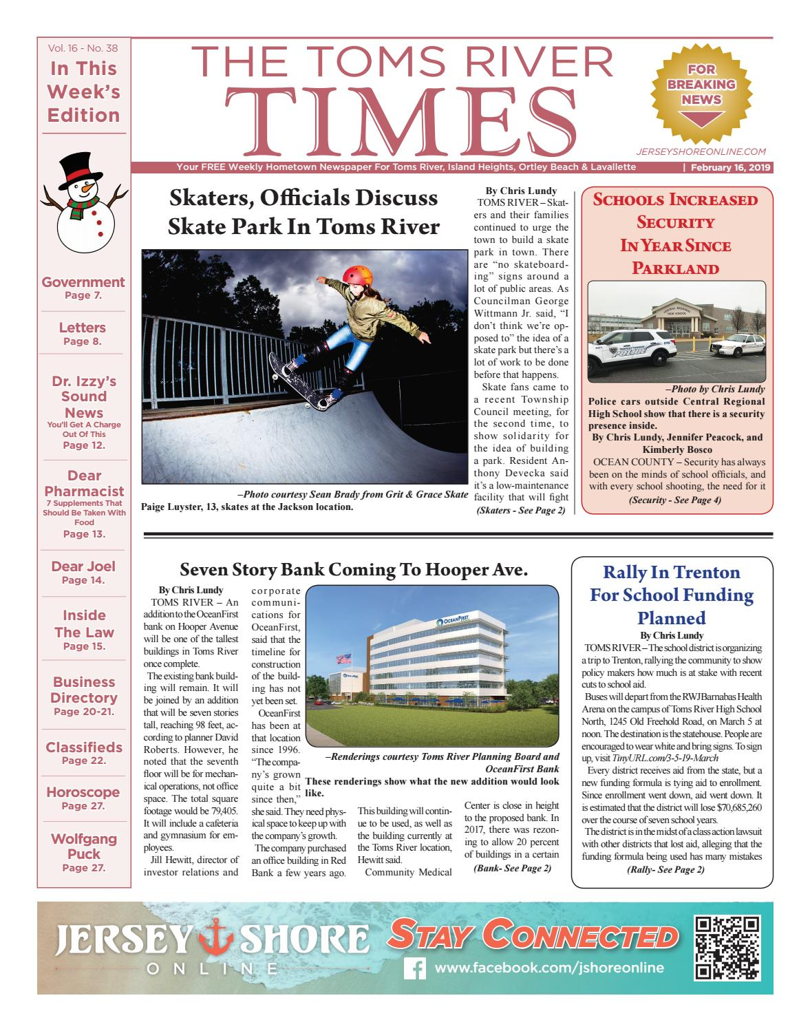 7403b9627 2019-02-16 - The Toms River Times by Micromedia Publications Jersey Shore  Online - issuu