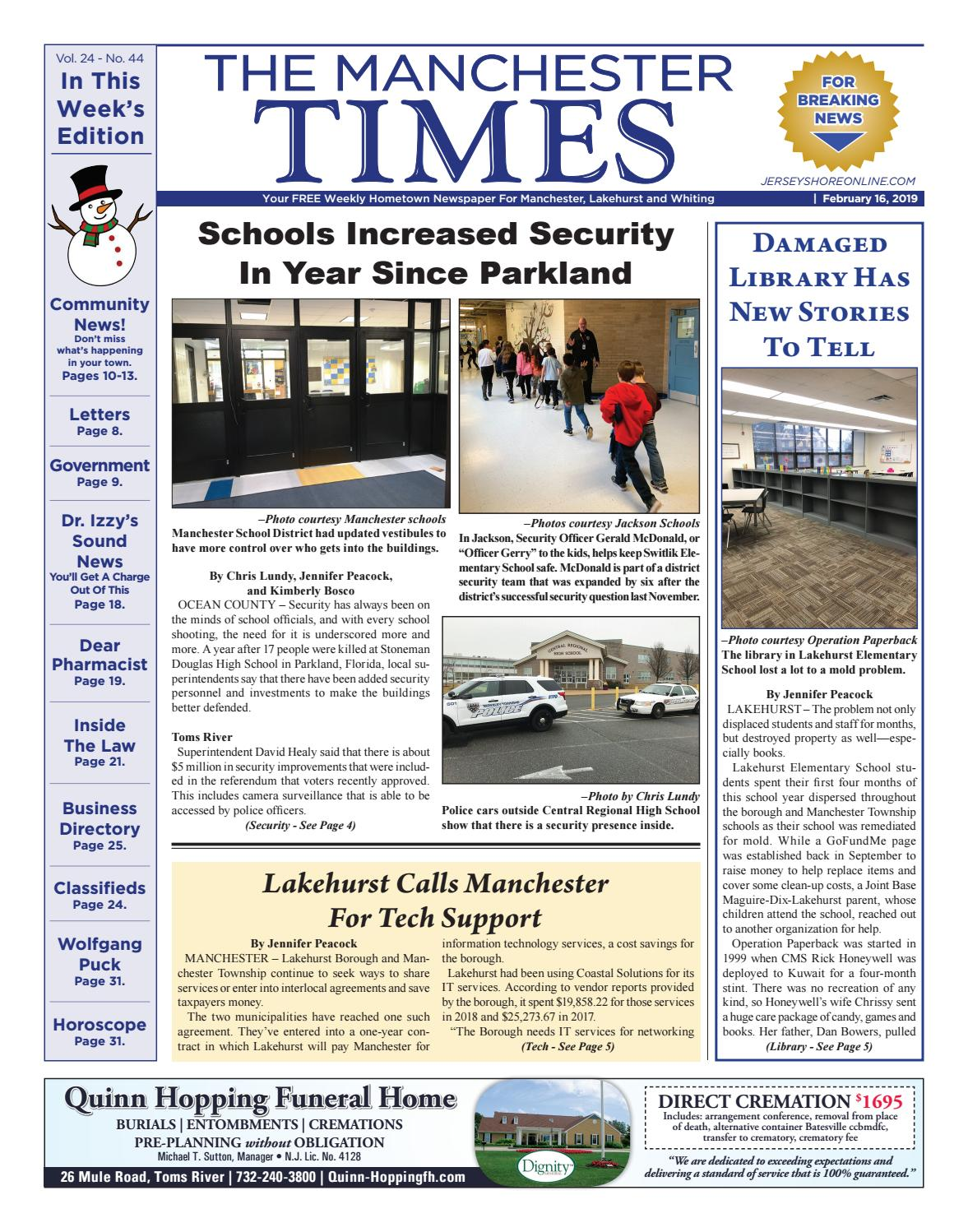 9aff6ac7d99b 2019-02-16 - The Manchester Times by Micromedia Publications Jersey Shore  Online - issuu