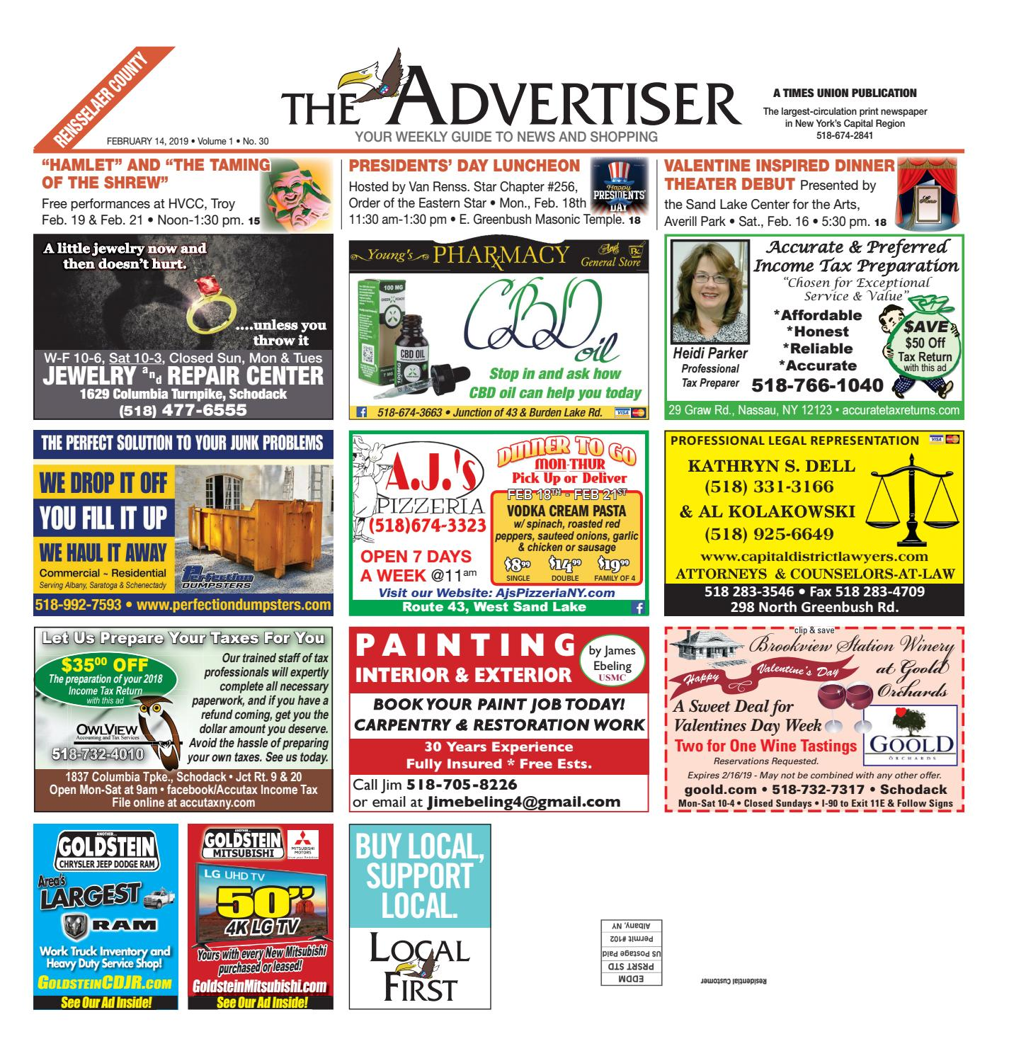 b01c5b8d0 Local First The Advertiser 021419 by Capital Region Weekly Newspapers -  issuu