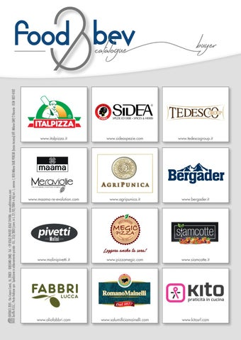 FOOD&BEV CATALOGUE 2019 - Speciale Gulfood by Editrice Zeus