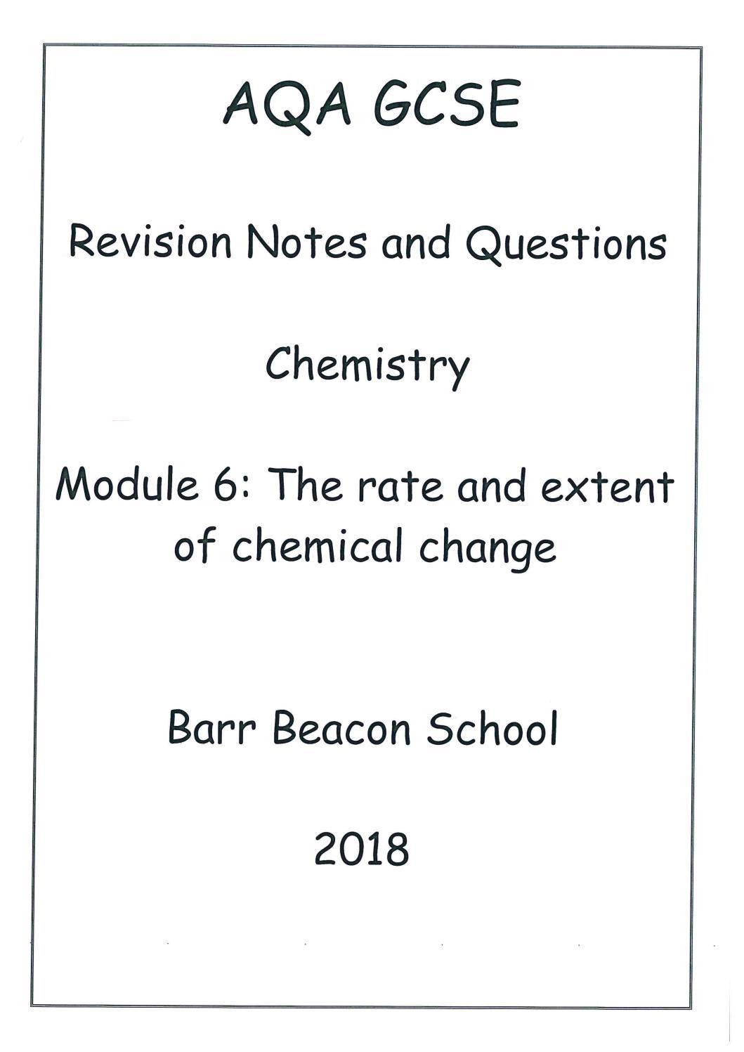 AQA Chemistry Module 6 Model Answers by Mr J Delaney - issuu