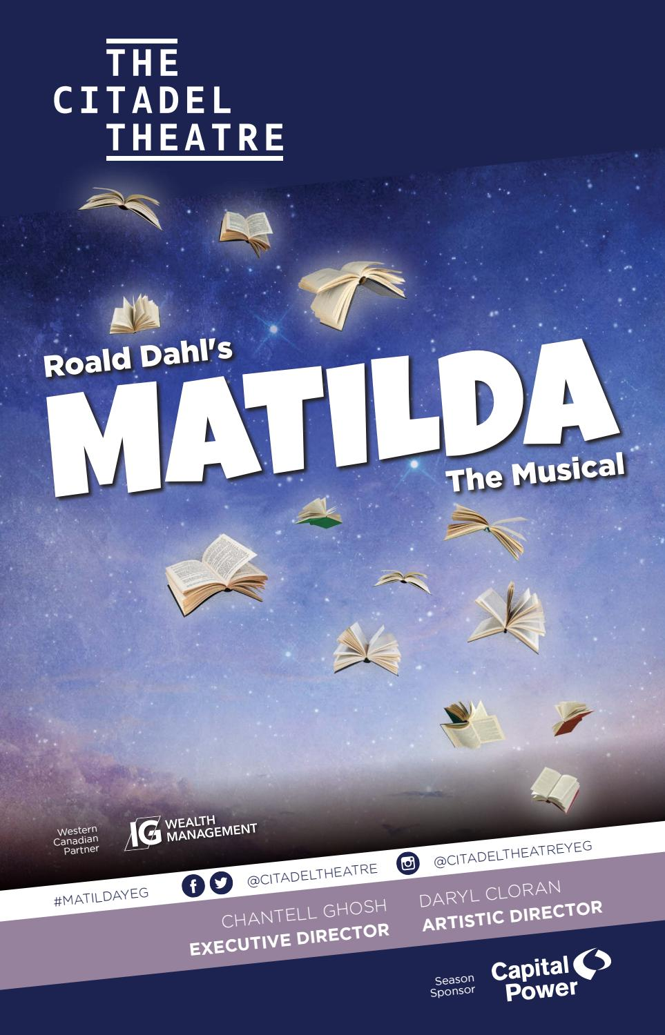 The Citadel Theatre playbill - Matilda The Musical by