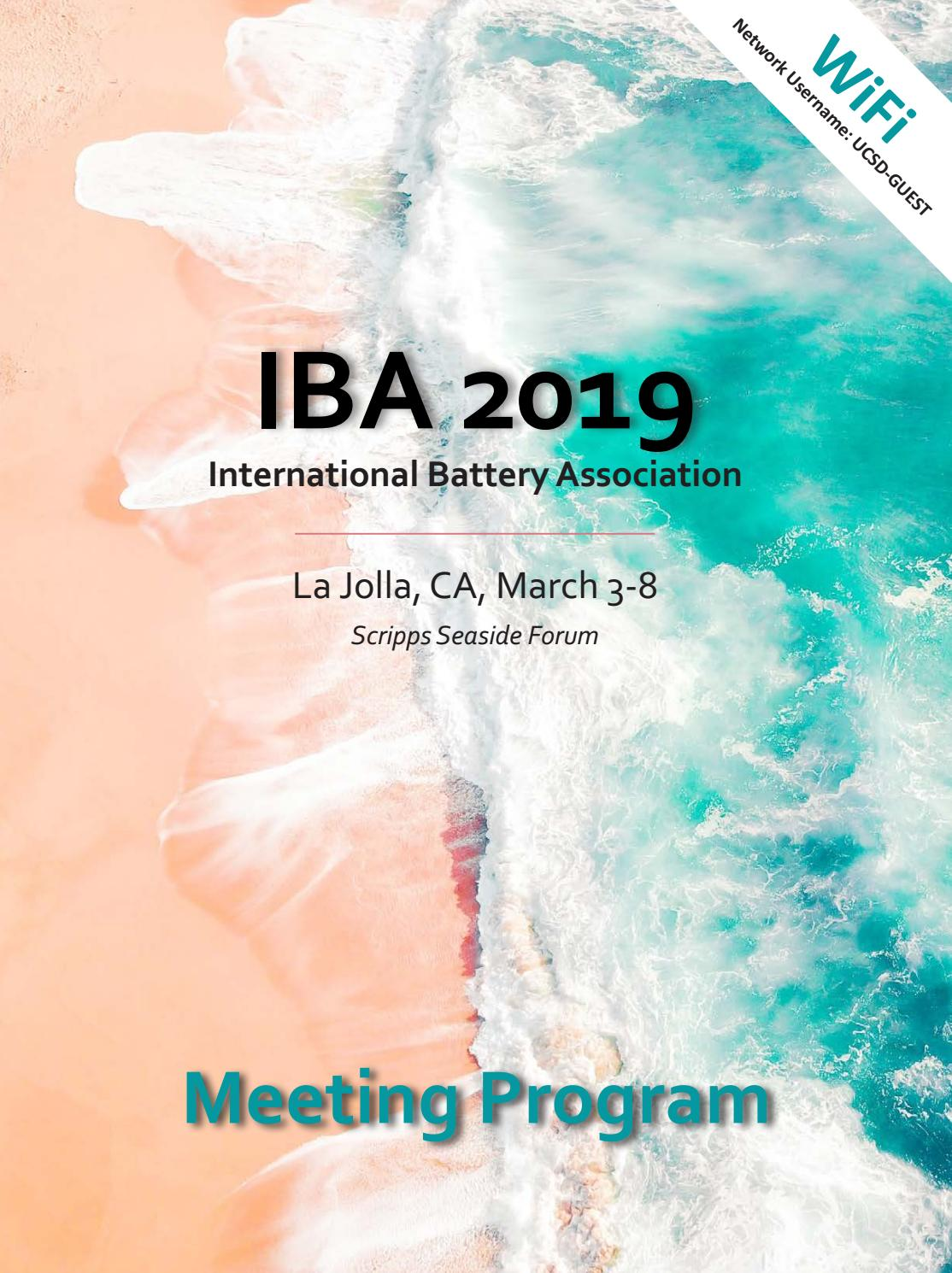 IBA 2019 by The Electrochemical Society - issuu