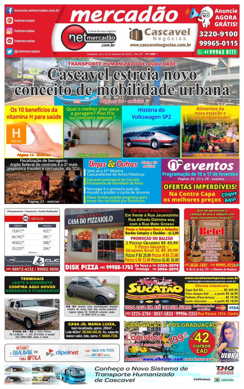Jornal Mercadão Online Grátis - 15 a 21 de Fevereiro de 2019