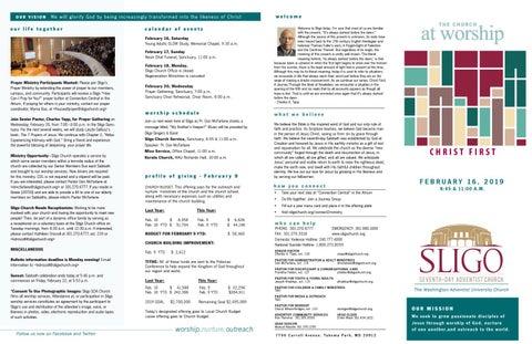 Sligo SDA Church Bulletin by Sligo Church - issuu