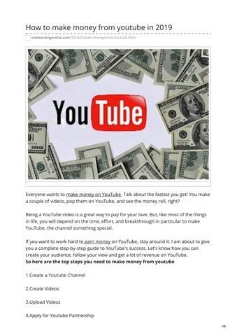 how you earn money on youtube