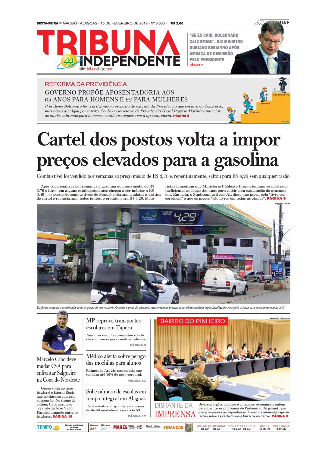 381270778f Edição número 3333 - 15 de fevereiro de 2019 by Tribuna Hoje - issuu