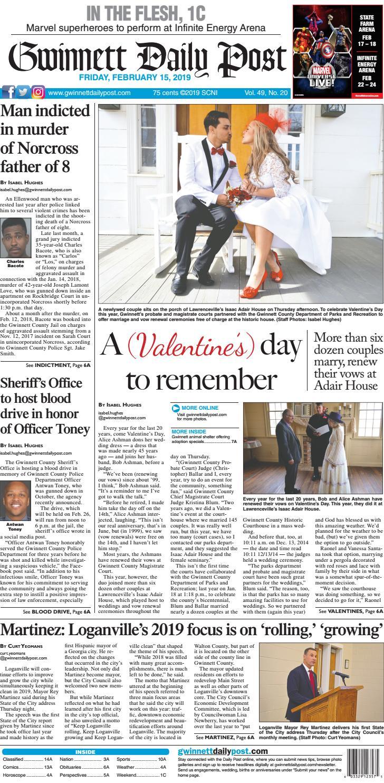 February 15, 2019 — Gwinnett Daily Post by Gwinnett Daily