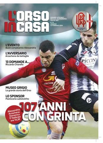 18698870466901 L'Orso in casa n.14 2018/19 by Alessandria Calcio - issuu