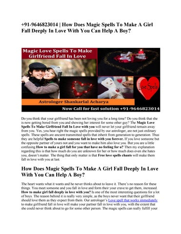 91-9646823014 | How Does Magic Spells To Make A Girl Fall Deeply In