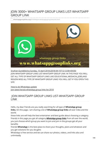 JOIN 3000+ WHATSAPP GROUP LINKS LIST-WHATSAPP GROUP LINK by whatsapp