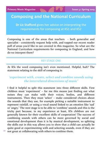 Page 22 of Composing and the National Curriculum