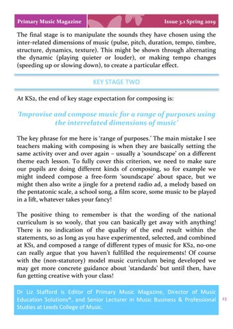 Page 23 of Composing and the National Curriculum