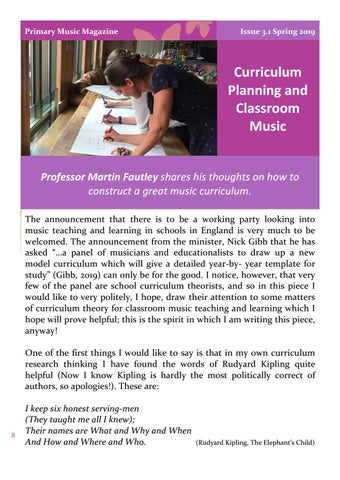 Page 8 of Curriculum Planning & Classroom Music