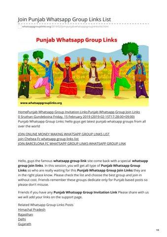 Join Punjab Whatsapp Group Links List by whatsapp group links - issuu