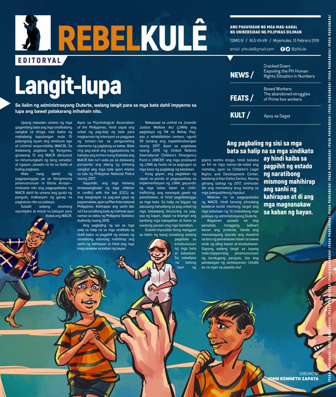 Rebel Kule Tomo 4 Isyu 7-8 by Philippine Collegian - issuu