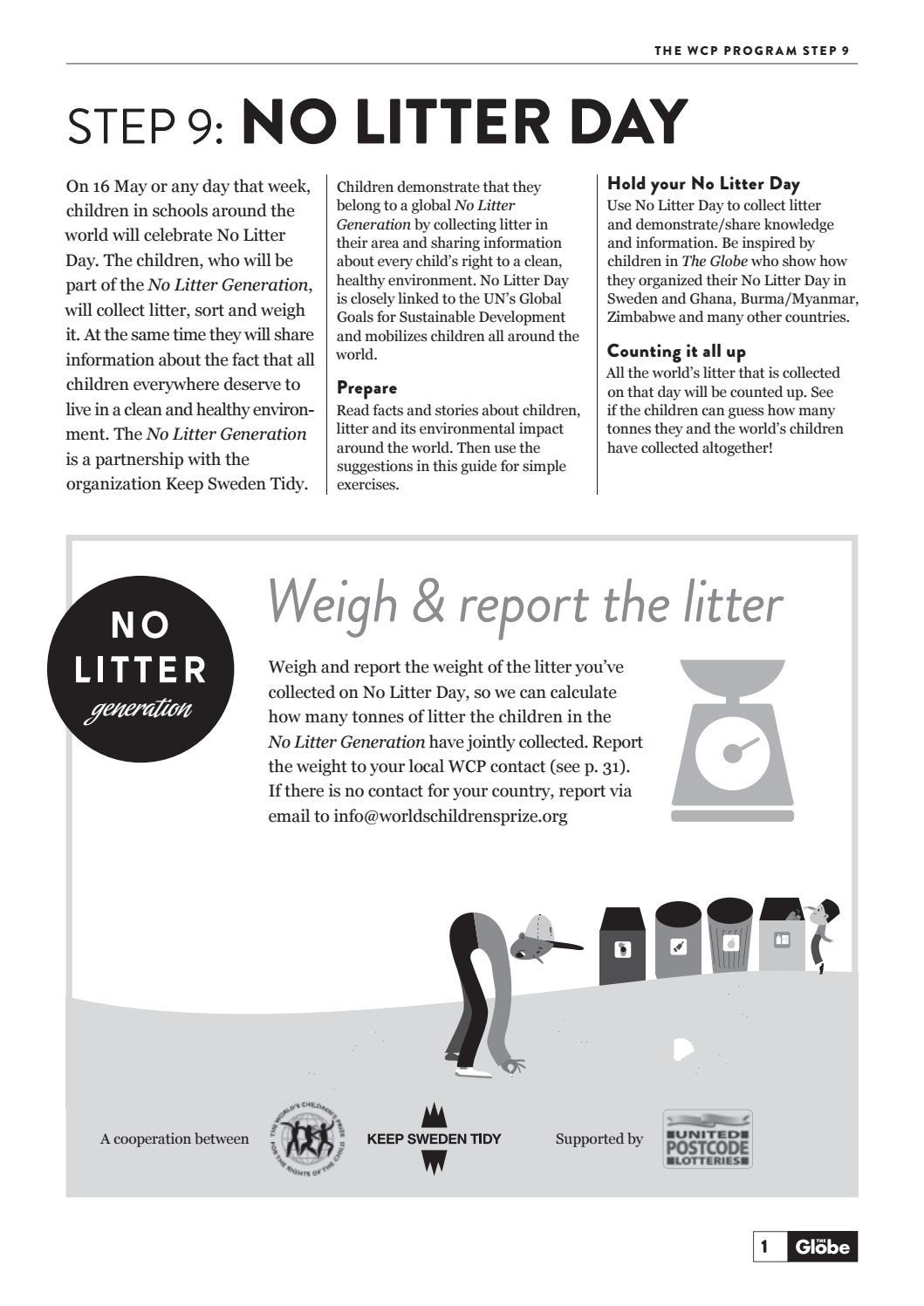 No Litter Generation Teachers Guide English by World's Children's