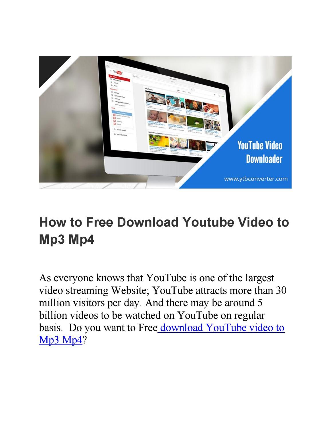 descargar videos de youtube a mp3 y mp4 online