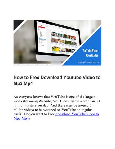 website to download youtube videos to mp3 for free