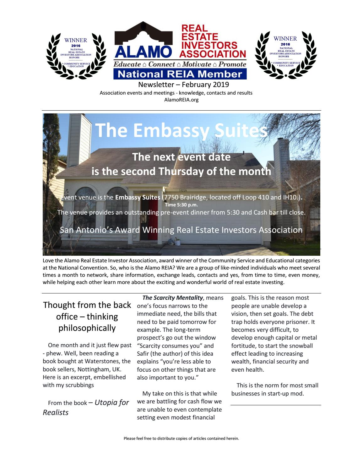 February 2019 Newsletter by AlamoREIA - issuu