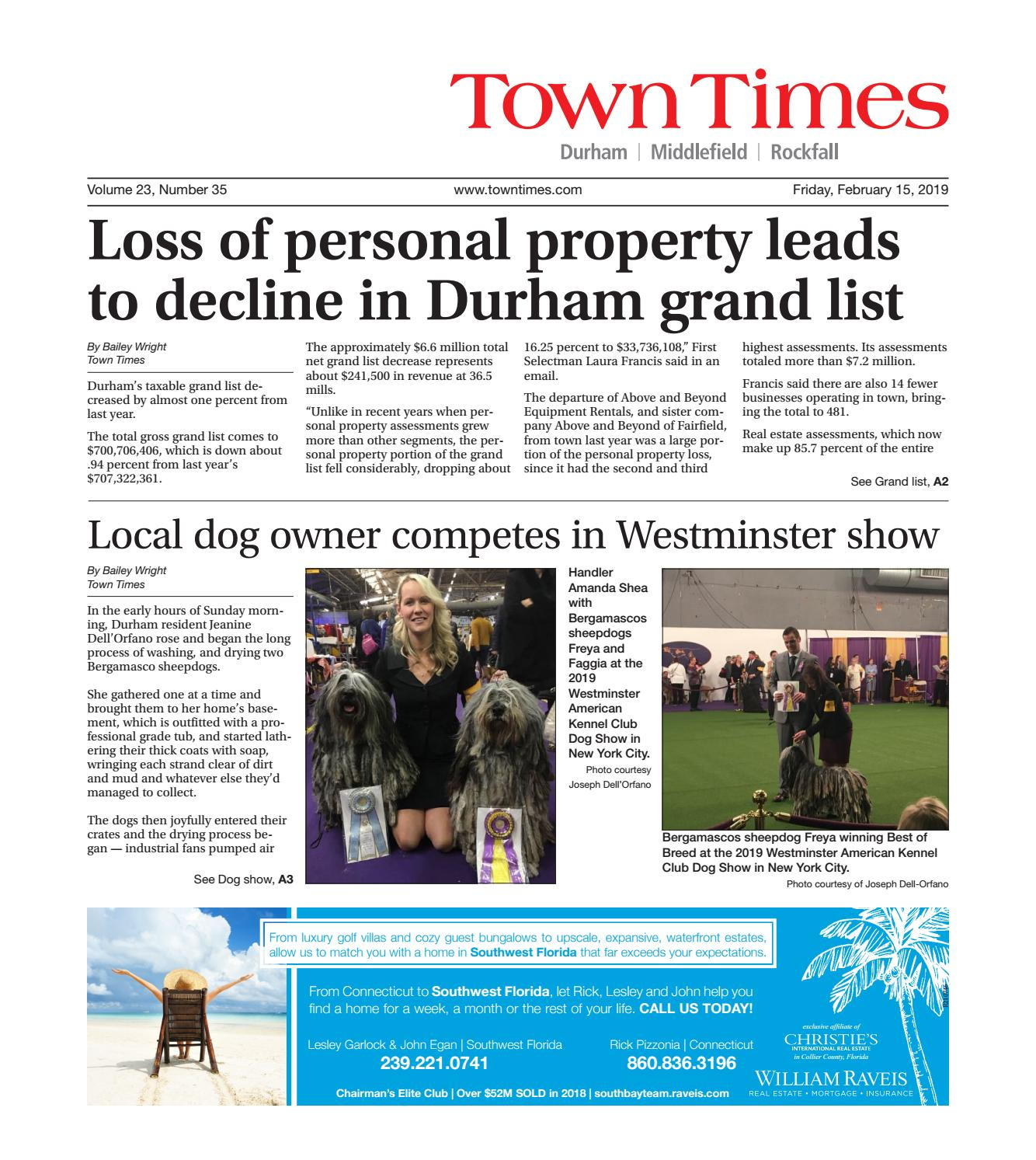 Town Times, Feb  15, 2019 by Town Times Newspaper - issuu