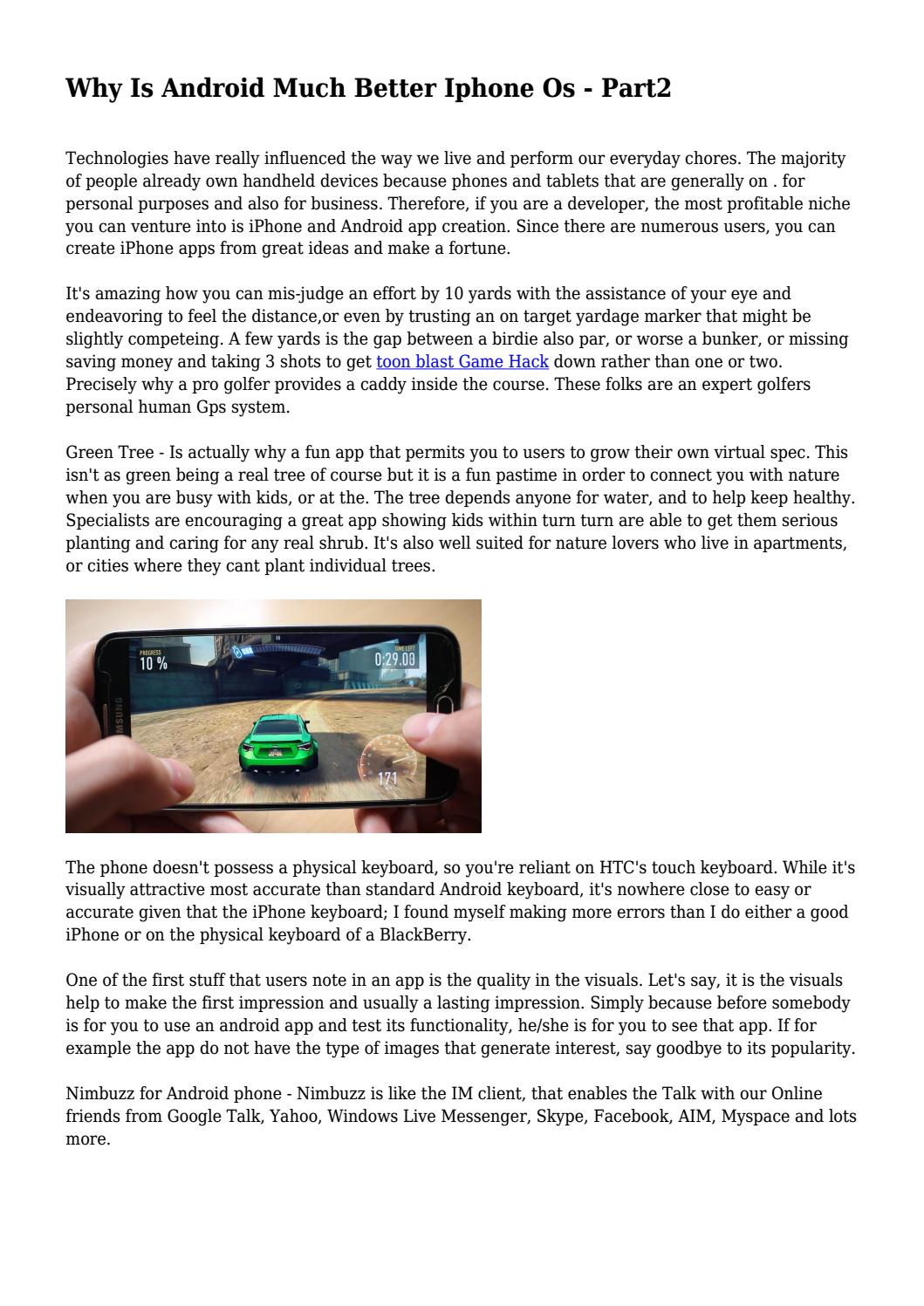 Why Is Android Much Better Iphone Os - Part2 by cleangadgetlabs - issuu