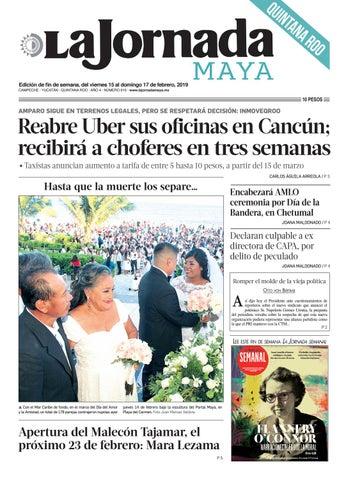 369a90a69c45a La Jornada Maya · viernes 15 de febrero de 2019 by La Jornada Maya ...