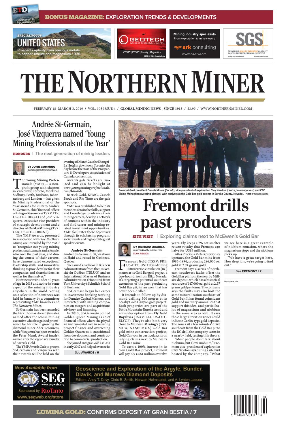 165 Niocorp Appoints Mr Mark A Smith  >> The Northern Miner February 18 2019 Issue 4 By The Northern