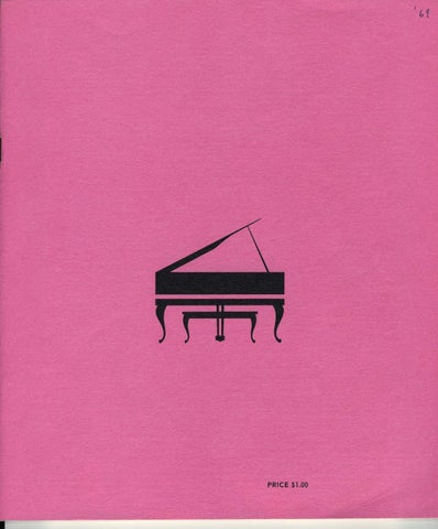 Third Van Cliburn International Piano Competition Program Book (1969