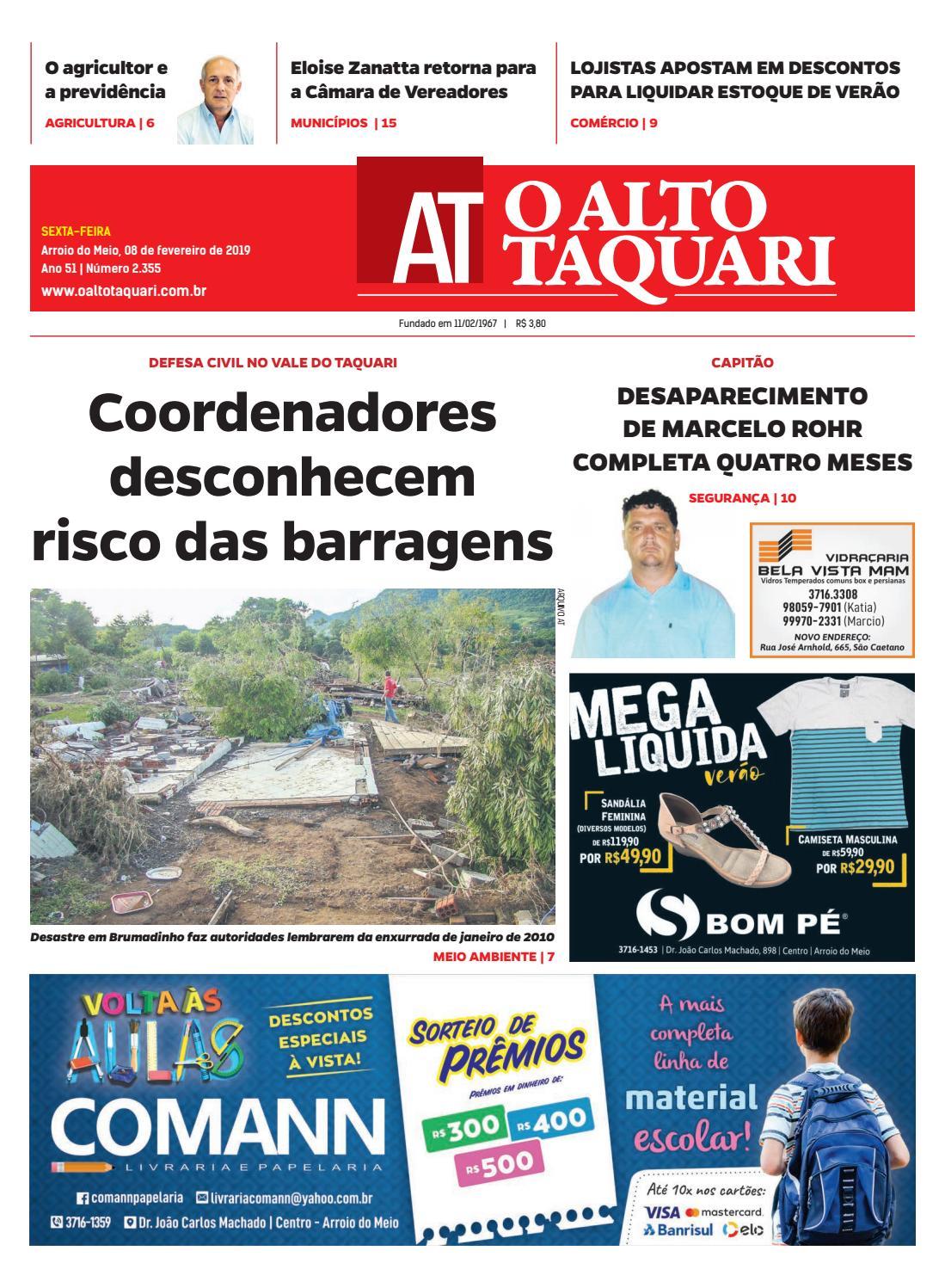 5f0f4cedcd9 Jornal O Alto Taquari - 08 de fevereiro de 2019 by Jornal O Alto Taquari -  issuu
