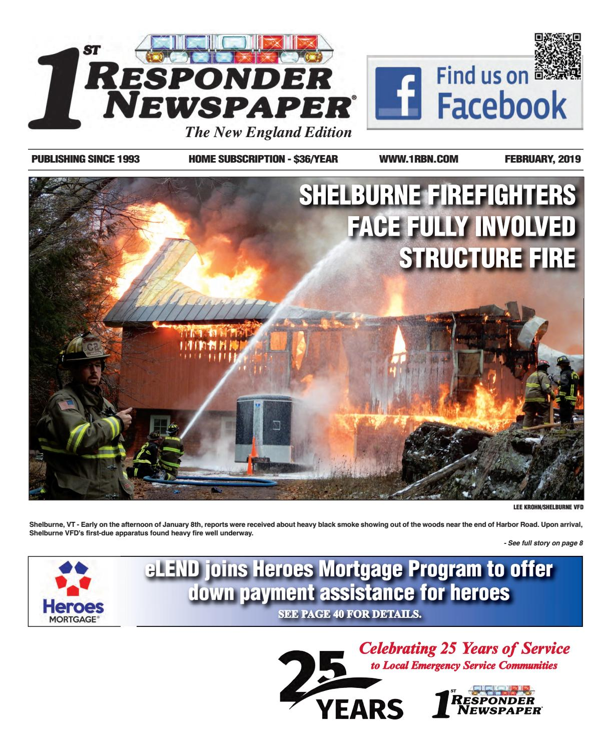 1st Responder New England February Edition By Belsito
