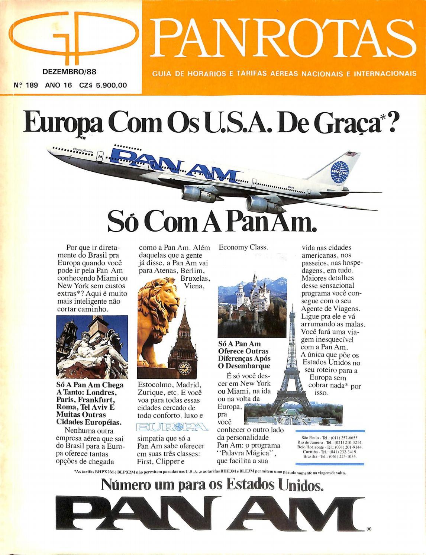 Guia PANROTAS - Edição 189 - Dezembro 1988 by PANROTAS Editora - issuu 0fccc5df7d46b