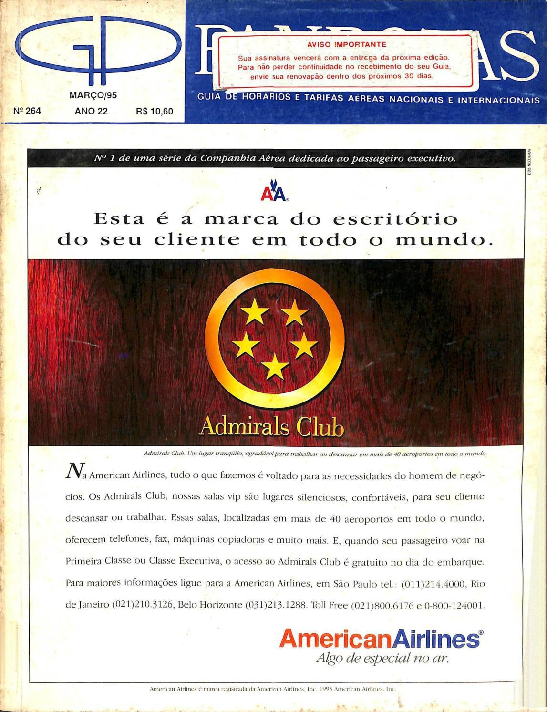 8f046baff7 Guia PANROTAS - Edição 264 - Março 1995 by PANROTAS Editora - Issuu