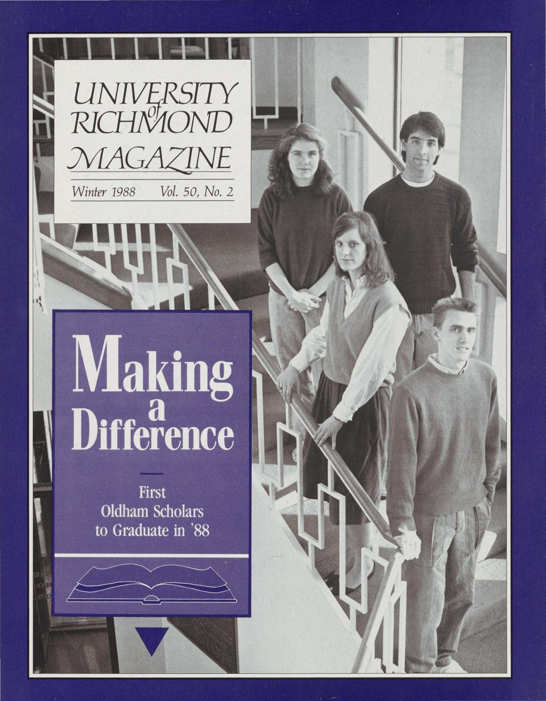 University of Richmond Magazine Winter 1988 by UR Scholarship