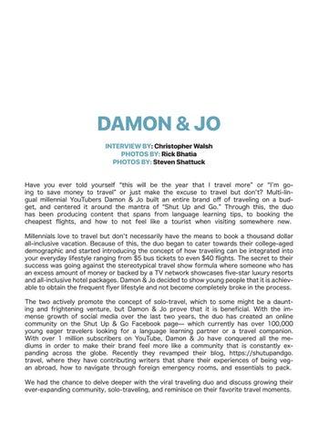 Page 14 of Damon & Jo X Listen Mag