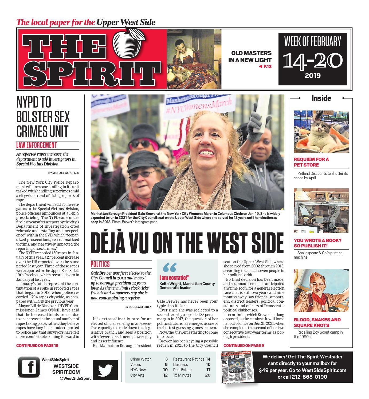 West Side Spirit - February 14, 2019 by West Side Spirit - issuu