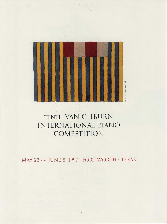 Tenth Van Cliburn International Piano Competition Program Book 1997