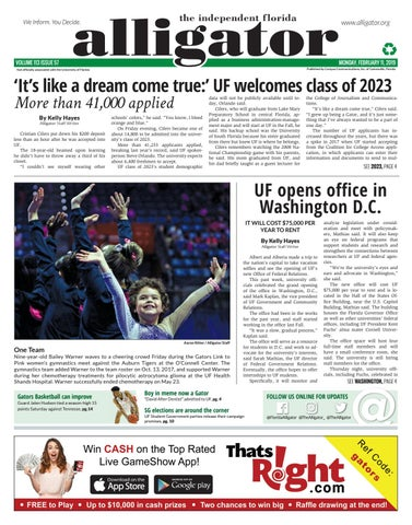 February 11, 2019 by The Independent Florida Alligator - issuu