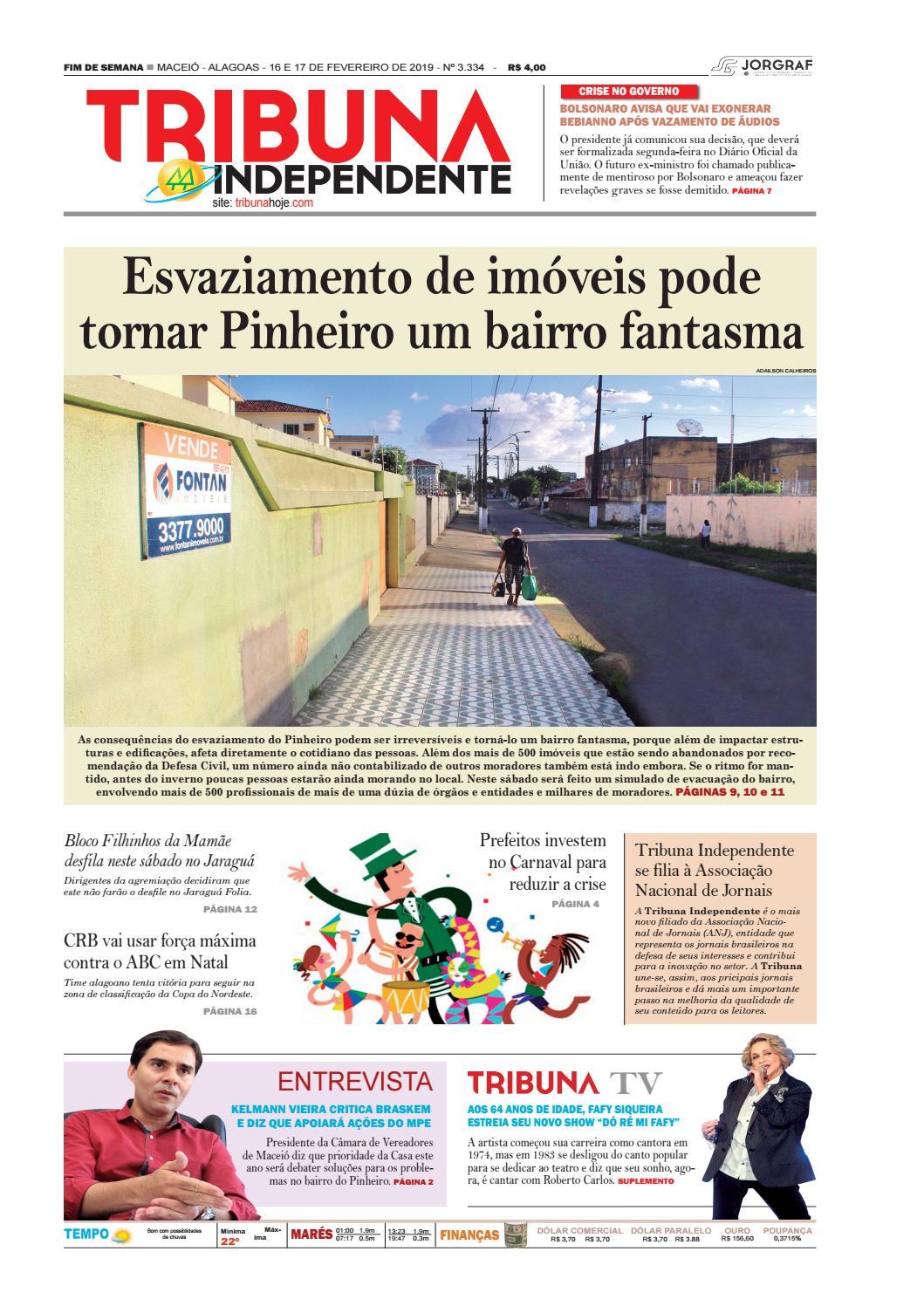 Edição número 3334 - 16 e 17 de fevereiro de 2019 by Tribuna Hoje - issuu 8e2d89cab34
