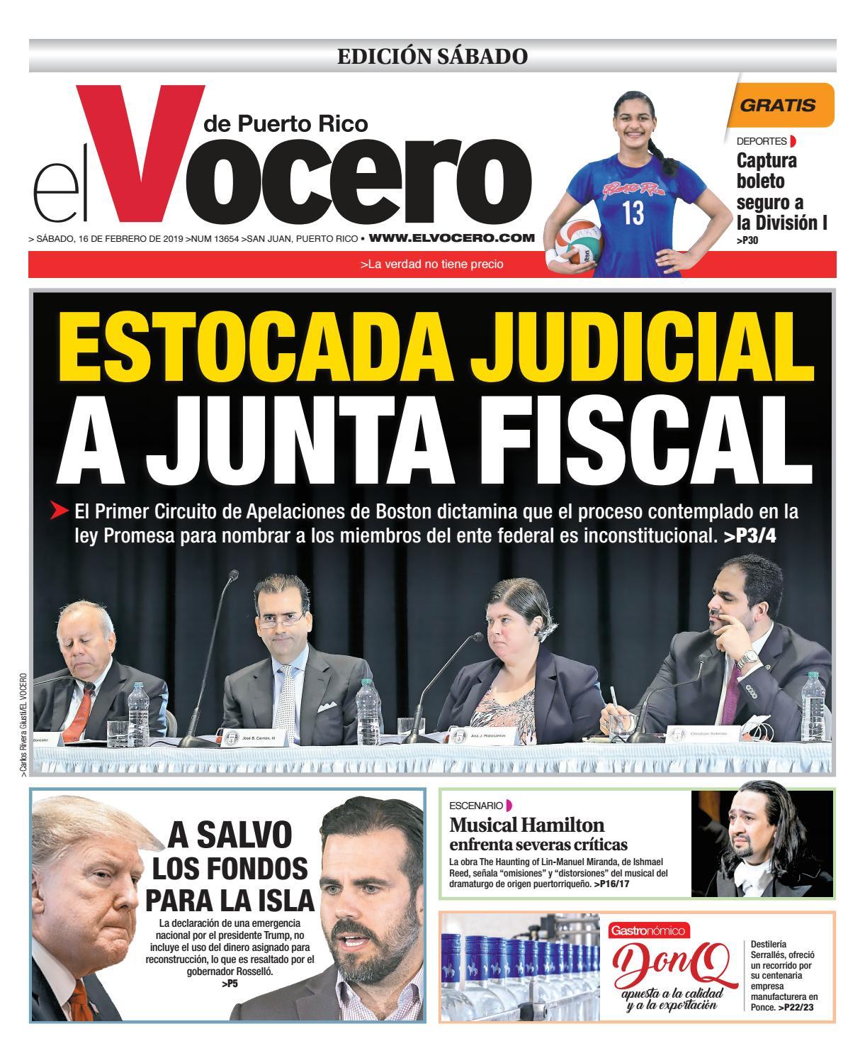 9d7d062d1 Edición: 16 de febrero de 2019 by El Vocero de Puerto Rico - issuu