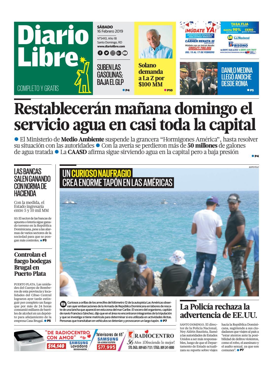 pretty nice 2f85a b71cc Sábado, 16 de febrero de 2019 by Diario Libre - issuu