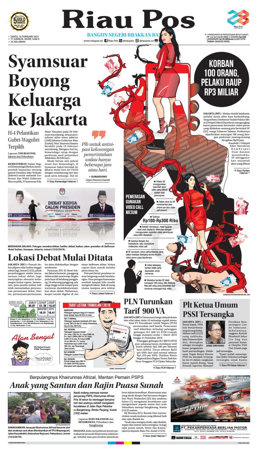 Riau Pos Edisi Sabtu 16 Februari 2019 By Riau Pos Issuu